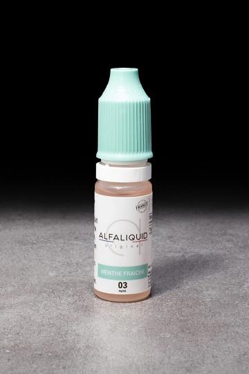 E-liquide Menthe fraîche 10ml ALFALIQUID - ICI ET VAP